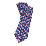 Cravate imprimée à la main 100% soie à la main pour hommes