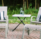 Personal 3개 고도 Adjustable Table 바닷가 백색 정원