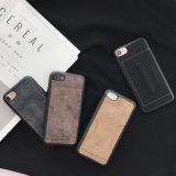Caisse en cuir positive d'unité centrale de l'iPhone 7 annexes de cas de téléphone mobile