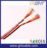 Cable transparente del altavoz del PVC de la alta calidad