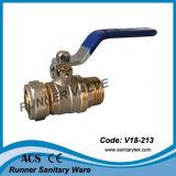 압축 이음쇠 끝 (V18-215)를 가진 공 벨브