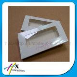 Rectángulo de empaquetado de papel de la pestaña cosmética encantadora de encargo