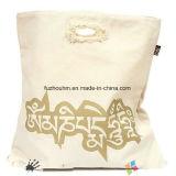 Bolso de compras promocional rápido del algodón del plazo de expedición con insignia