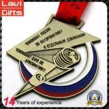 Медаль спорта России новой конструкции 2017 изготовленный на заказ с тесемкой
