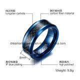 De Ring van het Wolfram van de Mensen van het Inlegsel van de Vezel van de koolstof