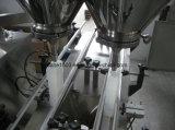 Máquina de rellenar medidora del polvo del taladro dual automático de los carriles