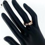 여자를 위한 최신 로즈 금 매력 보석 단순한 설계 반지