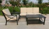 屋外の家具4部分にソファーの一定の織り方の塗るアルミニウム力
