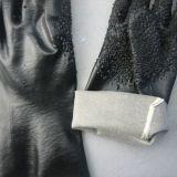 перчатки PVC вкладыша Джерси Knit шнура 13G с решетками (5114)