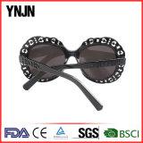 Солнечные очки черноты цветка женщин Ynjn новые стильные цветастые
