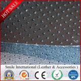 PVC革模造綿の裏付けの使用は袋およびソファーの工場卸売に蹄鉄を打つ