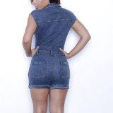Form-Frauen-Freizeit-beiläufige Denim-Verband-Overall-Bluse