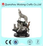 راتينج صناعة يدويّة حيوان برّيّ ذئب تمثال لأنّ عمليّة بيع