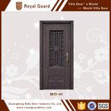 Porte simple de porte extérieure de porte de garantie d'alliage d'aluminium de prix usine de qualité