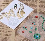 Moderne Acrylrhinestones-Tätowierung-Aufkleber-Kunst-Tätowierung