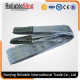 Polyester-flaches Material-Riemen-Sicherheitsfaktor-6:1 mit gefalteten Augen