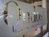 Пленка окна логоса собственной личности низкой цены изготовленный на заказ слипчивым замороженная печатание
