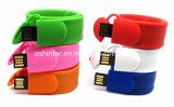 Vara de borracha do USB da memória Flash do USB do Wristband