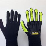 Высокая эластичная поли перчатка с двойником нитрила Sandy окунула, шить TPR