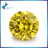 Pierres gemmes en zircon cubique synthétique or jaune lisse CZ Stone