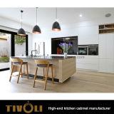 Houten Keukenkasten met Vernisje en de Witte het Schilderen Eenheden tivo-0237h van de Keuken