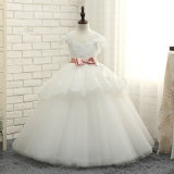Puffy Girls Wedding Gonws Dentelle Tulle Flower Girl F1511