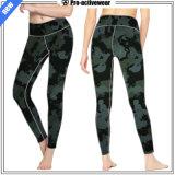 Pantalon sexy de yoga de logo de guêtres argentées r3fléchissantes faites sur commande de femmes
