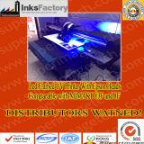 폴란드 디스트리뷰터는 원했다: LED UV 평상형 트레일러 인쇄 기계 90cm*60cm 인쇄 크기