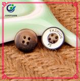 Tecla decorativa do terno do teste padrão da tecla branca da resina da cor
