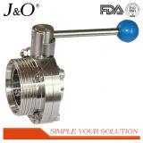 Válvula de borboleta sanitária de 3PCS de aço inoxidável com solda