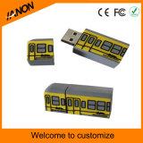 Movimentação relativa à promoção do flash do USB do molde do PVC do costume 3D com seu projeto