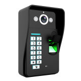 9inch vídeo de cor Doorphone do reconhecimento 900tvl da impressão digital da senha da gravação RFID