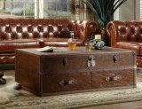 Jeu moderne de meubles de sofa de salle de séjour de cuir véritable