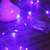 電池式ライトピンクカラーストリングは寝室のための防水50LED 16.4FT屋内装飾的な銀製ワイヤーライトをつける