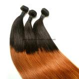 똑바른 T1b-30# 브라질 Virgin 머리 1 팩에 있는 3개 피스