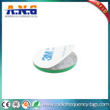 Símbolo impermeável do Tag da moeda do ABS RFID com adesivo de 3m