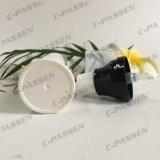 Frasco mal ventilado dos PP do plástico branco com o tampão desobstruído para o empacotamento do cosmético (PPC-PAB-037)