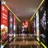 des Zoll-24X48 Backlit LED Menü-Vorstand des Bilderrahmen-für den Gaststätte-Schnellimbiß, der Bildschirmanzeige bekanntmacht