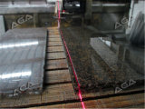 Il ponticello del granito ha veduto per le mattonelle della pietra di taglio che coprono il preventivo largo