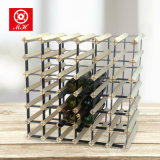 42 bottiglie hanno premontato le cremagliere di visualizzazione del vino di memoria di legno di metallo