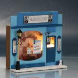 Het onderwijs Houten MiniHuis van Doll van het Stuk speelgoed