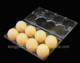 PVC Clear 8 Eggs Blister Caixa de embalagem