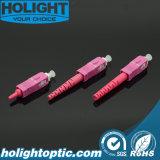 Color de rosa óptico del Sc Om4 de los conectores de fibra