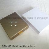Подгонянная коробка золотистого деревянного подарка ожерелья Peal упаковывая