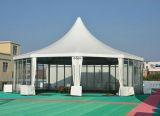 Шатер сени Pagoda Gazebo напольного Pergola шестиугольника алюминиевый для венчания