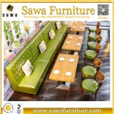 Gaststätte-Sofa-Sitz, der doppelten mit Seiten versehenen Gaststätte-Stand setzt
