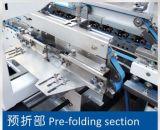 Colando a colagem fria da máquina 4/6 de dobrador de canto Gluer da caixa (GK-1100GS)