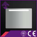 Jnh164 CheappolishedのLEDライトが付いている長方形によって溝を彫られる端の浴室ミラー