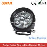 viga de punto campo a través de la luz del trabajo de 18W Osram LED que conduce la lámpara