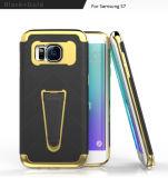 Гибридный случай края Samsung S7 аргументы за мобильного телефона Kickstand